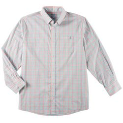 Tackle & Tides Mens Plaid Button Up Long Sleeve Shirt