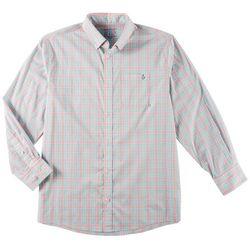 Tackle & Tides Mens Plaid Button Up Long Sleeve Shirt