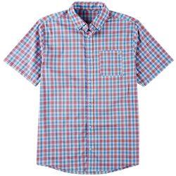 Tackle & Tides Mens Plaid Yarn Dyed Short Sleeve Shirt