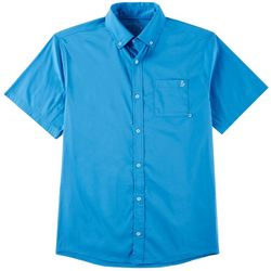 Tackle & Tides Mens Solid Button Down Short Sleeve Shirt