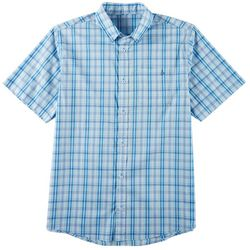 Tackle & Tides Mens Plaid Button Down Short Sleeve Shirt