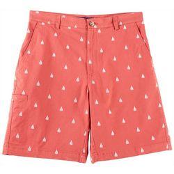 Tackle & Tides Mens Boat Print Cell Pocket Shorts