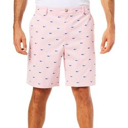 Tackle & Tides Mens Mini Whale Print Cell Pocket Shorts