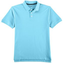 Tackle & Tides Mens Contrast Collar Short Sleeve Polo Shirt