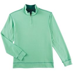 Tackle & Tides Mens Solid Quarter Zip Pullover Sweater