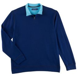 Tackle & Tides Mens Solid Quarter Zip Sweater