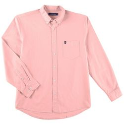 Tackle & Tides Mens Solid Chambray Long Sleeve Shirt