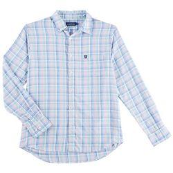 Tackle & Tides Mens Madras Plaid Pastel Long Sleeve Shirt