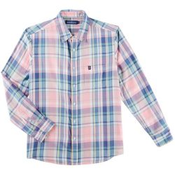 Tackle & Tides Mens Madras Plaid Long Sleeve Shirt