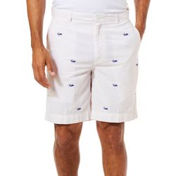 Tackle & Tides Mens Whale Print Cell Pocket Shorts