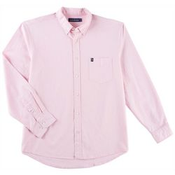 Tackle & Tides Mens Stretch Oxford Solid Long Sleeve Shirt