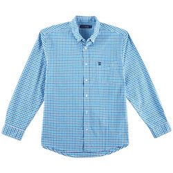 Tackle & Tides Mens Stretch Plaid Long Sleeve Shirt