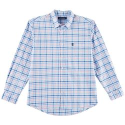 Tackle & Tides Mens Denim Plaid Long Sleeve Shirt