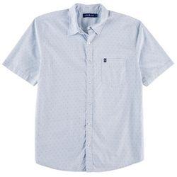 Tackle & Tides Mens Poplin Ditsy Cross Print Shirt