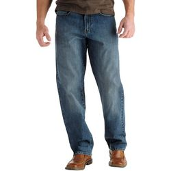 Lee Mens Big & Tall Custom Fit Straight Jeans