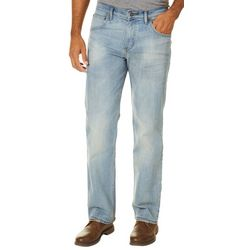 Wrangler Mens 4-Way Flex Faded Straight  Fit Jeans