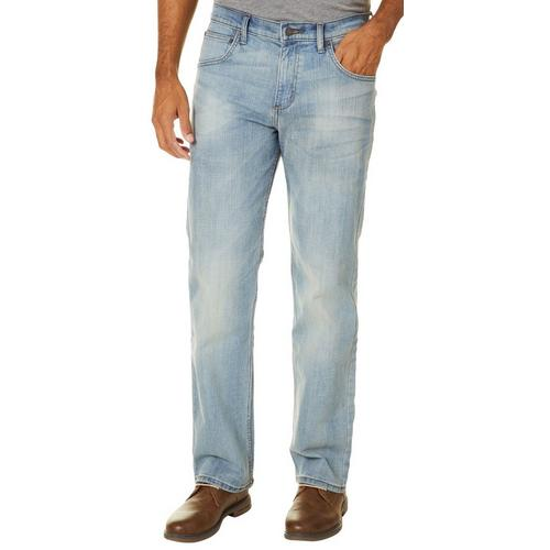26f930d1 Wrangler Mens 4-Way Flex Faded Straight Fit Jeans   Bealls Florida