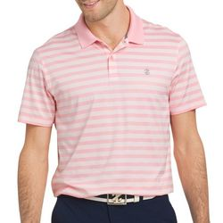 IZOD Golf Mens Stripe Print Polo Shirt