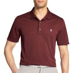 IZOD Golf Mens Swingflex Champion Grid Plaid Polo Shirt