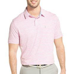 IZOD Golf Mens Performance Greenie Stripe Polo Shirt