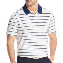 IZOD Golf Mens Performance Stripe Print Polo Shirt