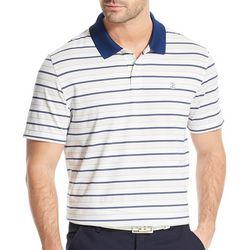 a30005d0 IZOD Golf Mens Performance Stripe Print Polo Shirt
