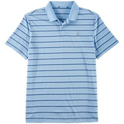 IZOD Golf Mens Performance Striped Polo Shirt