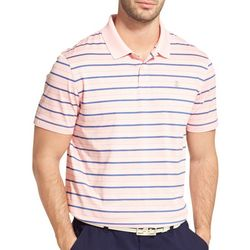 IZOD Golf Mens Performance Stripes Polo Shirt