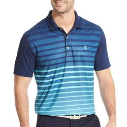 IZOD Golf Mens Performance Ombre Stripe Polo Shirt