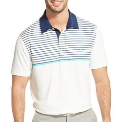 IZOD Golf Mens Performance Chest Stripe Polo Shirt