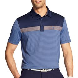 IZOD Golf Mens Performance Greenie Colorblocked Polo Shirt