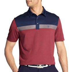 IZOD Golf Mens Performance Greenie Colorblock Polo Shirt