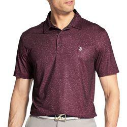 IZOD Golf Mens Performance Showman Space Dye Polo Shirt