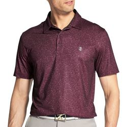 IZOD Golf Mens Performance Showman Space Dye Polo Shirt