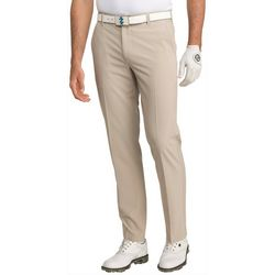 IZOD Golf Mens Swingflex Solid Flat Front Pants