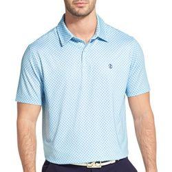 IZOD Golf Mens Performance Diamond Print Polo Shirt