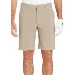 IZOD Golf Mens Swingflex Solid Straight Fit Shorts