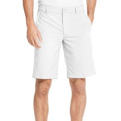 IZOD Golf Mens Swingflex 9.5 Solid Flat Front Shorts