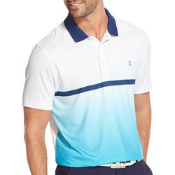 IZOD Golf Mens Ombre Stripe Polo Shirt