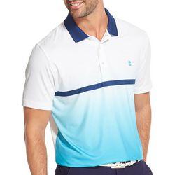 IZOD Golf Mens Ombre Stripe Polo Shirt