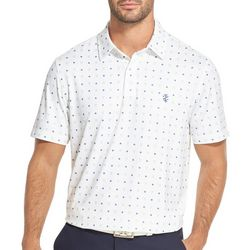 IZOD Golf Mens Golf Ball Print Polo Shirt