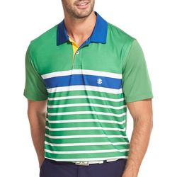 IZOD Golf Mens Engineer Stripe Polo Shirt