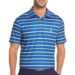 IZOD Golf Mens Double Stripe Polo Shirt