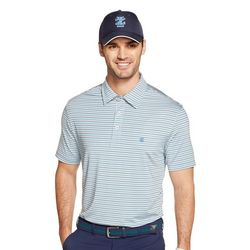 IZOD Golf Mens Multistripe Print Polo Shirt
