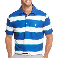 IZOD Golf Mens Block Stripe Polo Shirt