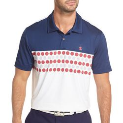 IZOD Golf Mens Colorblocked Golf Ball Polo Shirt