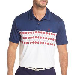 IZOD Golf Mens Colorblocked Golf Ball Polo Shirt