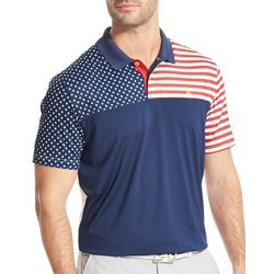 IZOD Golf Mens Swingflex Stars & Stripes Polo Shirt