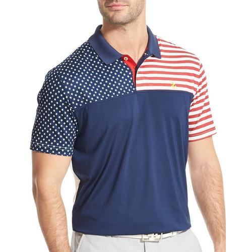 new items promo code sale usa online IZOD Golf Mens Swingflex Stars & Stripes Polo Shirt