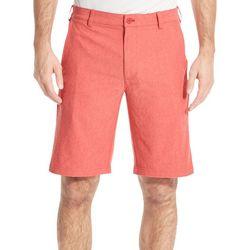 IZOD Golf Mens Oxford Flat Front Pocket Shorts